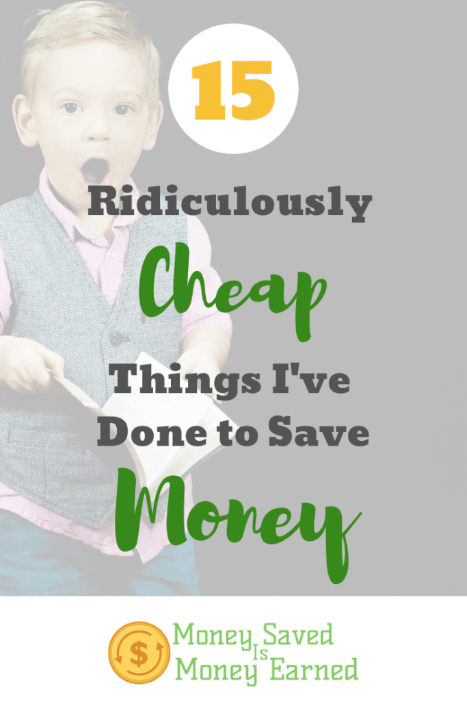 cheap things I've done to save money