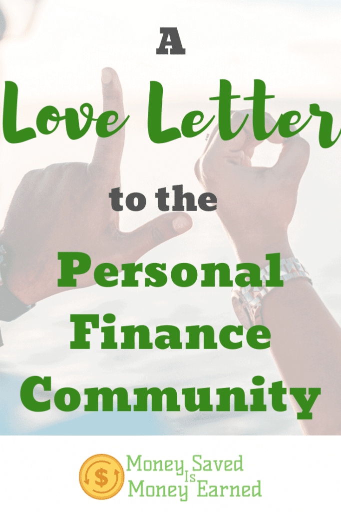 love letter to the personal finance community