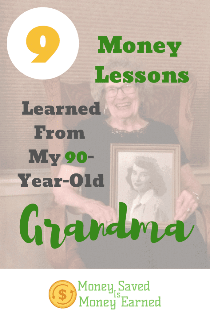 money lessons from my 90 year old grandma