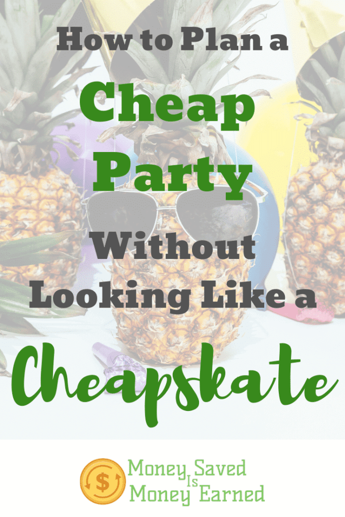 how to plan a cheap party