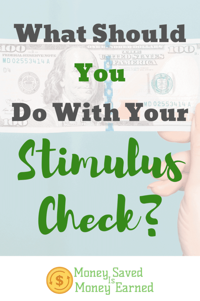 what should you do with your stimulus check