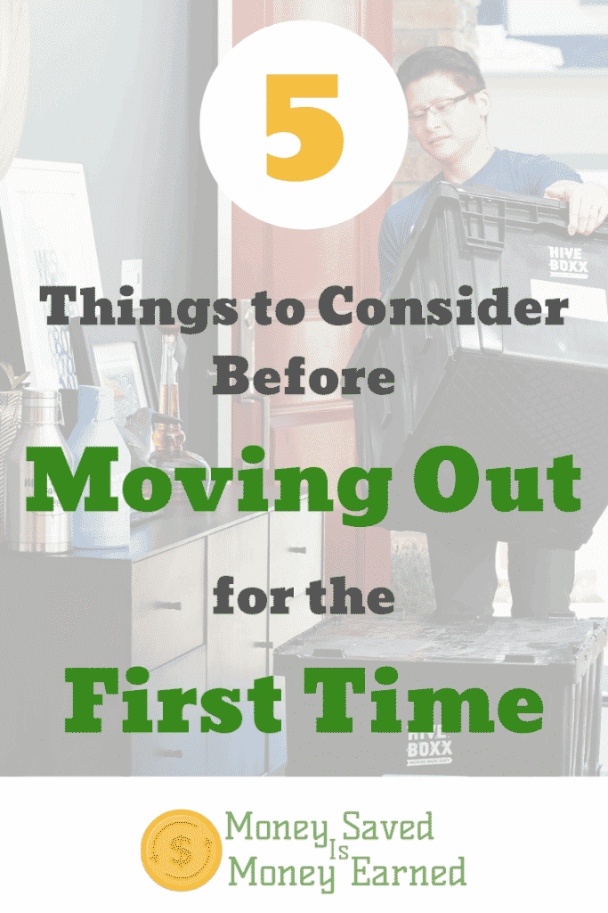 moving out for the first time