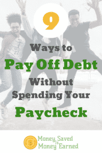 pay off debt without spending your paycheck